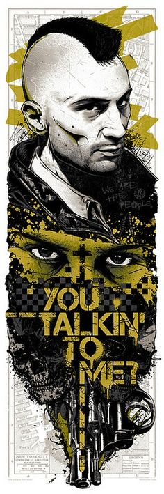 Taxi Driver - ''You Talkin' to Me?'' - Rhys Cooper ---- Spoke Art Presents SCORSESE: An Art Show Tribute @ Bold Hype in NYC
