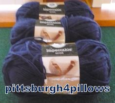3 - Loops & Threads - Impeccable - 4.5 Ozs. - 268 Yards - Color - 01110 - Navy - Price Is for All by pittsburgh4pillows on Etsy