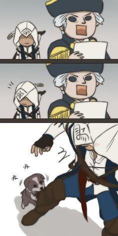Assassins creed 3 connor and king Washington Something by dokyakutu on DeviantArt