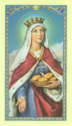 At left: St Elizabeth of Hungary, traditional holy card. In the Catholic calendar, today is the Feast of St Elizabeth of Hungary . Religious Images, Religious Art, Saint Elizabeth Of Hungary, Statues, Catholic Online, Religion, All Saints Day, Roman Catholic, Female Catholic Saints