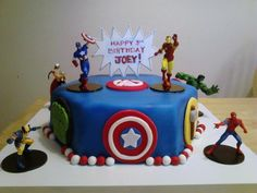 Avengers Cake from Walmart Birthday Party Pinterest Avenger