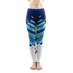 19fe1b4889 ZODP Women's Blue Line Trend Pattern Sexy Leggings Elasticity Workout Pants  Fitne,#Line,