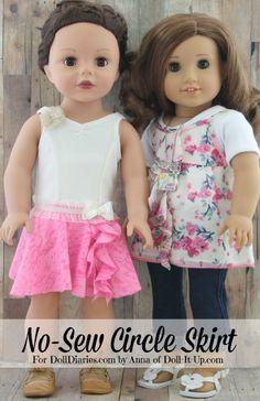Camp Doll Diaries-Make a No-Sew Dance Skirt