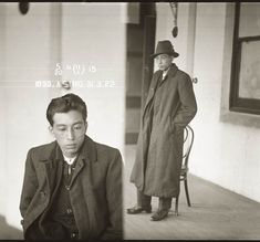Mug shot of Albert Sing, 31 March 1922. Location unknown. On 1 May 1922, a month after this photograph was taken, Albert Sing was sentenced to 18 months hard labour on three counts of receiving stolen goods, including fountain pens, cutlery and clothing.