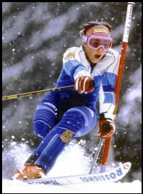 Diana Golden Brosnihan, a brilliant skier.  Diana won 19 Gold medals in world competition plus a Gold at the Winter Olympics in Calgary in 1988.