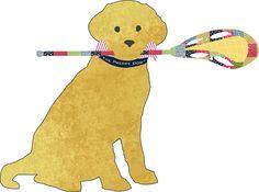 Preppy Golden Retriever Lacrosse Dog by emrdesigns