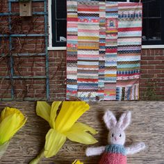Finished quilt and tiny bunny for a young lady... More details on my blo