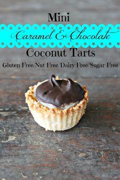 Paleo Mini Caramel & Chocolate Tarts (also nut free!)