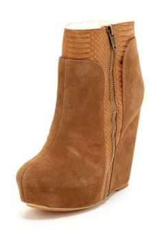 In search of the perfect fall bootie: Koolaburra Carmen Textured Hidden Wedge Bootie