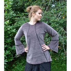 Charcoal longsleeved tunic Charcoal, Fairy, Tunic, Sweatshirts, Sweaters, How To Wear, Fashion, Moda, Robe