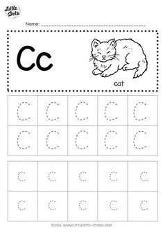 Preschool printables tracing free letter c tracing worksheets little dots education preschool and activities preschool tracing . Letter C Activities, Alphabet Tracing Worksheets, Tracing Letters, Writing Worksheets, Worksheets For Kids, Abc Tracing, Color Activities, Preschool Writing, Preschool Letters