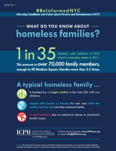 #Poverty and #homelessness info graphic by ICPH. For the upcoming #NYC mayoral election.