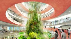 "Architecture and planning studio Ecosistema Urbano have won a design competition to shape the future of Florida's West Palm Beach; creating a model waterfront city that is ""intelligent, flexible and . Downtown West Palm Beach, West Palm Beach Florida, Florida Beaches, Beach Design, Architecture Design, Landscape Architecture, Florida Images, Happy City, Forest Habitat"
