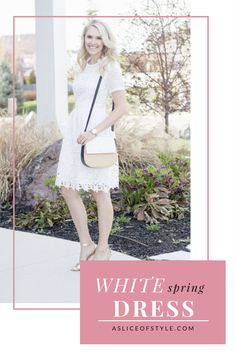 This is the perfect white dress for spring!