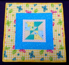 Doll Quilt  Baby Lovey Quilt Little  Butterfly by birdsongquilts, $25.00