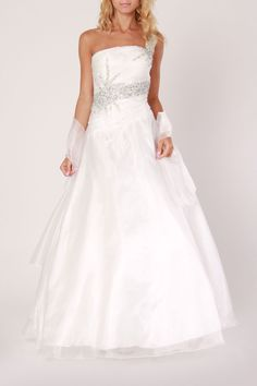 Colors Dress Ball Gown In White - Beyond the Rack