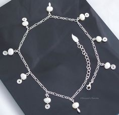 Freshwater Pearl choker on figaro chain by TheEtherealCharms