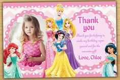 Sale Disney Princess Birthday Invitation Girls Bir