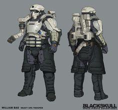 Blackskull: Earth Based UPA Troopers, William Bao on ArtStation at https://www.artstation.com/artwork/xVN8E