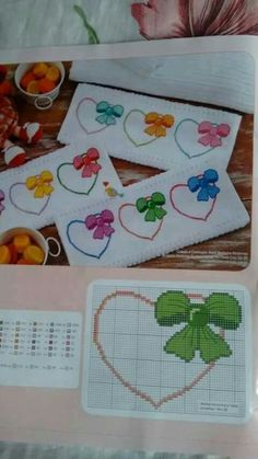 This Pin was discovered by Şey 123 Cross Stitch, Cross Stitch Bookmarks, Cross Stitch Heart, Cross Stitch Cards, Cross Stitch Borders, Cross Stitch Flowers, Cross Stitch Designs, Cross Stitching, Cross Stitch Embroidery