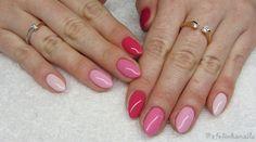 baseveheinails: Pięć odcieni różu - Semilac