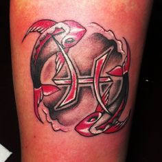 Pisces Tattoos   InkDoneRight  Pisces Tattoos most often (but not always) take the form of two fish, swimming away from one another or in different directions but connected by a...