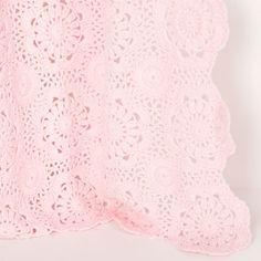 Manta Crochet Flores | ZARA HOME España