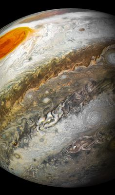 Nasa NASA's Jupiter probe captures new photos of the planet, Great Red Spot - NASA's Juno spacecraft flew by Jupiter for the time on April The robot took unbelievable new images of the solar system's largest planet and storm. Jupiter Planet, Juno Jupiter, Cosmos, Space Planets, Space And Astronomy, Astronomy Facts, Astronomy Pictures, Astronomy Quotes, Hubble Space Telescope
