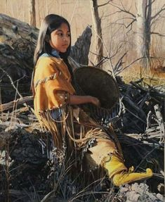 Artwork by Ray Swanson, Cibeque Apache, Made of Oil on board