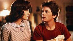 Lea Thompson & Michael J. Fox in #BackToTheFuture (1985)