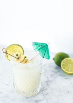 Banana Coconut Margarita | recipe on Craftandcocktails.co