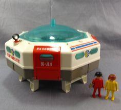 Playmo Space Station Vintage 1980 Playmobil Geobra Astronaut Toy Moon Landing #PLAYMOBIL