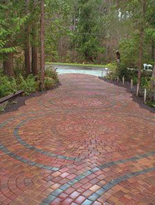 Cool brick driveway and walkways
