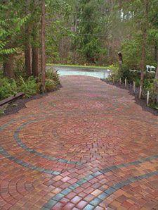 Cool brick driveway