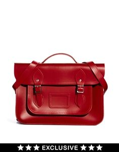 "Absolutely lovely! - Cambridge Satchel Company Exclusive to ASOS 14"" Red Leather Backpack"