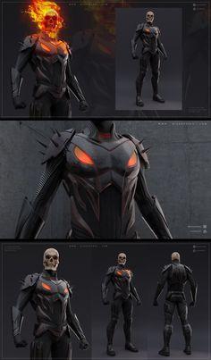 Marvel Comics Art, Marvel Heroes, Ms Marvel, Captain Marvel, Marvel Characters, Fantasy Characters, Marvel Concept Art, Ghost Rider Marvel, New Ghost Rider