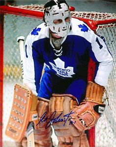 Former Bruin Ed Johnston was part of a 3 goalie rotation for the Leafs in the season. Hockey Goalie, Hockey Games, Hockey Players, Nhl, Maple Leafs Hockey, Goalie Mask, Vancouver Canucks, Nfl Fans, Toronto Maple Leafs