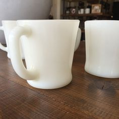 Fire King Milk Glass Coffee Mugs