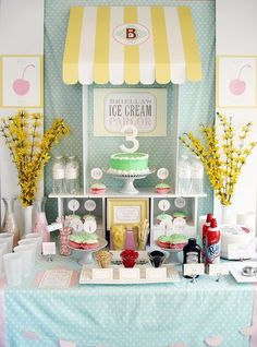 Here's an idea for a summer birthday party: make it ice cream themed!