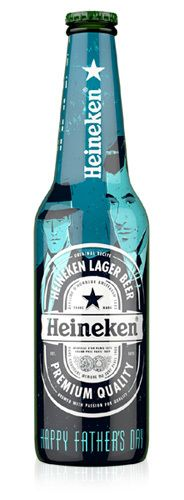 #Heineken Bottle by Peter Donnelly, via Behance  *Parece una edición especial de MadMen