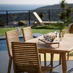 On se poserai bien en terrasse... Salon de jardin 6 places en teck brut LOVAZZI Ermanno G