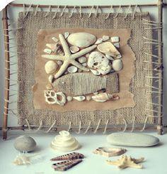 Martesdediy cuadro con recuerdos de la playa - Manualidades con piedras de playa ...
