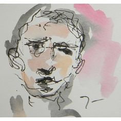 This is a one-of-a-kind original drawing by impressionist artist JOSE TRUJILLO. Measurements: 3 x 3 inches Medium: Watercolor on paper Watercolor Portrait Painting, Watercolor Artists, Watercolor Bird, Watercolor Landscape, Self Portrait Drawing, Painting Art, Body Painting, Impressionist Artists, Painting People