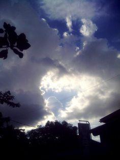 Beautiful sky at Yogyakarta