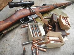 attacktics: first-in-firearms: Mosin Nagant Sniper Rifle. Battle Rifle, Bolt Action Rifle, Assault Rifle, Cool Guns, Military Weapons, Guns And Ammo, Revolver, Airsoft, Firearms