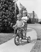 When we rode our bikes, we had baseball caps and no helmets..Somehow we survived!