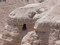 Cave where the Dead Sea Scrolls were found ... Qumran