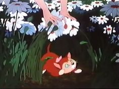 Alices cat Dinah from Alice in Wonderland Dinah in the daisies Disney Aesthetic, Aesthetic Movies, Film Aesthetic, Aesthetic Images, Aesthetic Videos, Aesthetic Anime, Aesthetic Dark, Aesthetic Grunge, Disney Cats