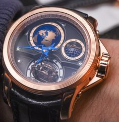"Cecil Purnell​ V17 World Time Bi-Axial Tourbillon Watch Hands-On - by Rob Nudds - see the hands-on photos & read more on aBlogtoWatch.com ""It's good to be different. The Cecil Purnell V17 World Time Bi-Axial Tourbillon is the latest offering from a brand full of head-turners. Cecil Purnell watches look like nothing else on Planet Wrist. You can see flashes of Jacob & Co. in some of the dials, Roger Dubuis in some of the skeletonization, Zenith in some of the complications, but hardly…"