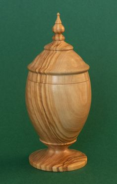 Urn made out of Olive Wood from Crete Lathe Projects, Wood Turning Projects, Crete, Making Out, Jar, Boxes, Home Decor, Ideas, Resume